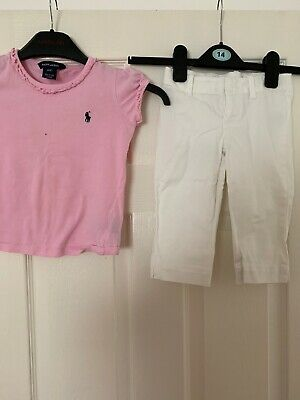 Ralph Lauren Girls 4T Trousers And Top Pink