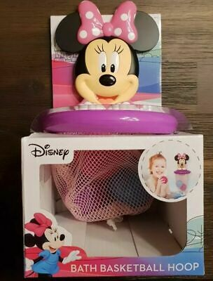 Disney Minnie Mouse Baby Bath Toy Floating balls BasketBall Hoop Suctions