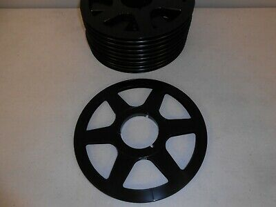 "Lot of 10 x 10.5"" black plastic reel to reel take up for 1/4"" analog tape"