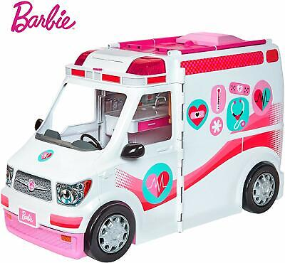 Barbie Girls FRM19 Careers Care Clinic Model, Ambulance, Lights And Sounds