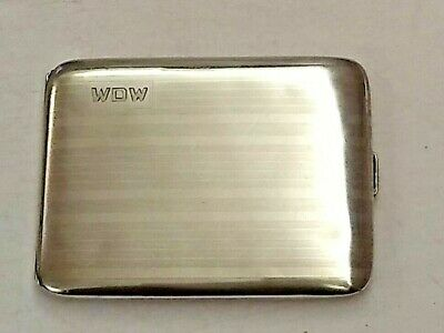 Vintage Sterling Silver Cigarette Case by Napier - 88 grams