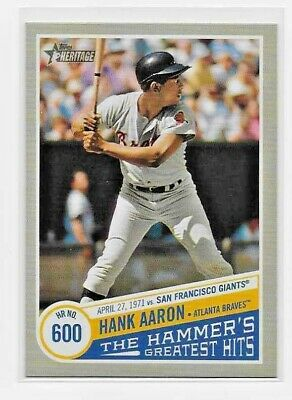 2019 Topps Heritage High HANK AARON THE HAMMER'S GREATEST HITS Insert THGH-9