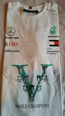 Mercedes AMG Petronas Tommy Hilfiger Victory T Shirt Rare  F1 World Championship