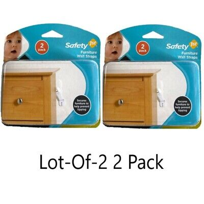 SAFETY 1ST Furniture Wall Straps Lot-of-2, 2-Pack Brand New Fast Free Ship