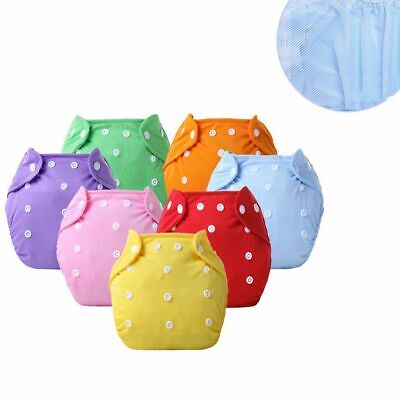 Adjustable Mesh Reusable Nappies Summer Version Washable Cloth Baby Diaper