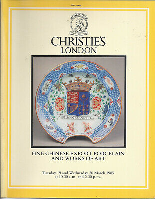 CHRISTIE'S CHINESE EXPORT PORCELAIN Enamels Furniture Bronzes Painting Catalog85