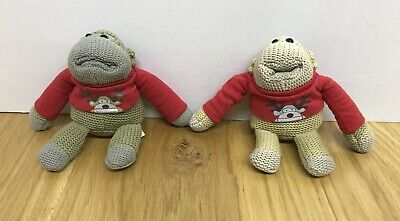 Happy Christmas from PG tips 6-7 inch Monkey x2 Plush Soft Toy Christmas Jumper