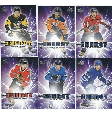 2019-20 19-20 Upper Deck Hockey Pure Energy Insert Complete Your Set 1-50