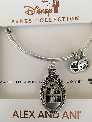 Disney Alex & And Ani Haunted Mansion Silver Bracelet