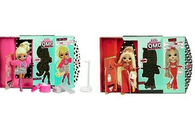 "Brand NEW. Set of 2 LOL Surprise OMG 10"" SWAG & LADY DIVA Fashion Dolls"
