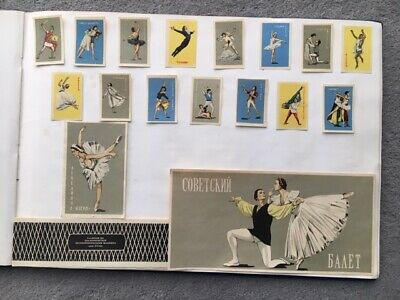 """Matchbox Labels Russia Ussr Very Old Antique """" Ballet """"  Set Of 18"""