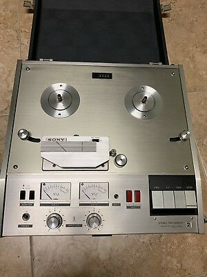 Vintage SONY TC-770-2/4 Reel to Reel Tape Player RARE + POWER CORD