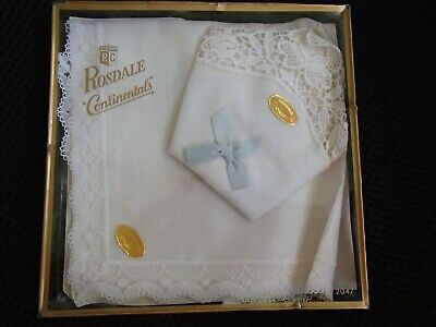 Vintage Collectable Rosdale Continentals Lace Handkerchief