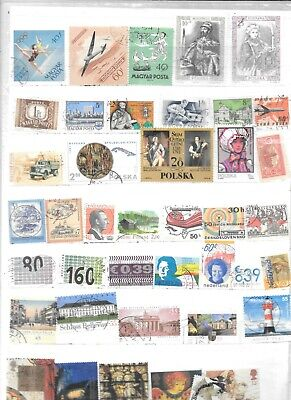 timbres obliteres d europe