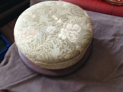 antique low upholstered footstool