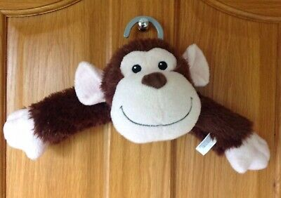 Childrens Fluffy Animal Clothes Hanger - Monkey