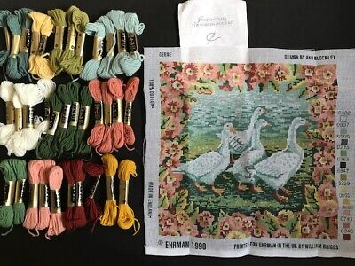 EHRMAN 1990 GEESE TAPESTRY KIT Blockley Design CANVAS & ANCHOR WOOLS PACK UNUSED