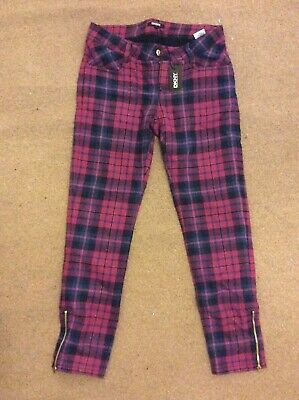 DKNY GIRLS CHECKED TROUSERS 16 Years