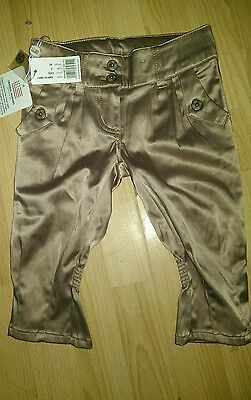 original marines girl size 2 silk champagne trousers