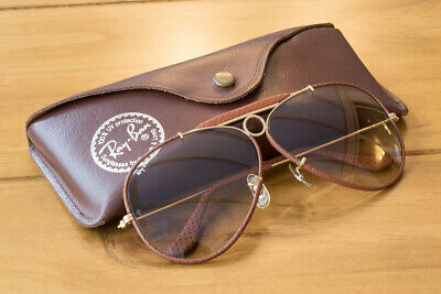 Ray-Ban Vintage Leather Shooter Series Bausch & Lomb B&L Rayban Ray Ban