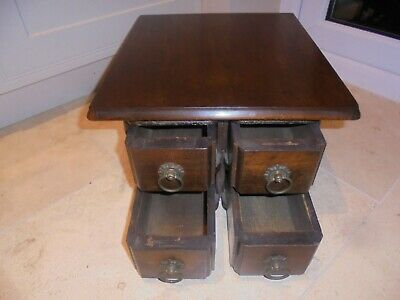 Set of 4 sewing machine drawers, small storage chest