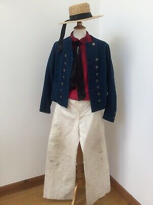 18th/ 19th Century Sailors Complete Costume. Authentic Hand Sewn.