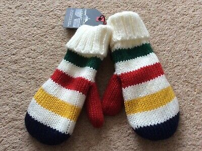 Hudson Bay Mittens/gloves Childrens/youths Primary Colours BNWT