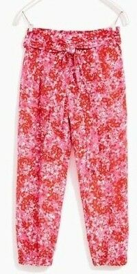 BNWT Pink Floral ZARA Loose trousers Size 9-10 yrs