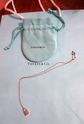Tiffany & Co. 925 Sterling Silver T&CO 1837 Mini Lock Pendant/Charm Necklace
