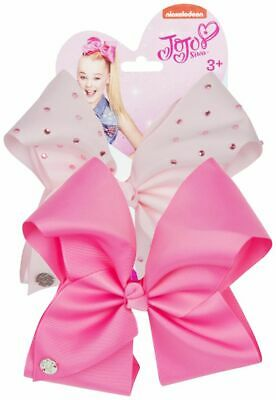 JoJo Bows 2X / 1X Large Hair Bows Baby Pink and Pink Christmas Girls Present