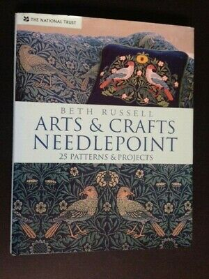 ARTS & CRAFTS NEEDLEPOINT NT Book Russell 25 PATTERNS & PROJECTS Morris,Tiffany