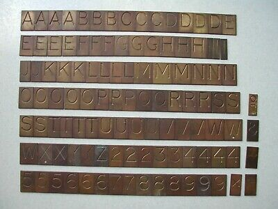 110 loose Gravograph Pantograph brass engraving letters & numbers typefont set.