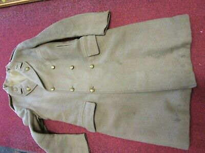 Ww1 Duke Of Wellingtons W. Riding British Officers Great Coat V. Good Condition