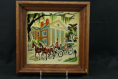 Paint By Number Horse &  Open Carriage PhiladelphiaFramed Vintage