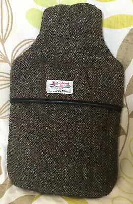 Harris Tweed Real Wool Hot Water Bottle And Cover