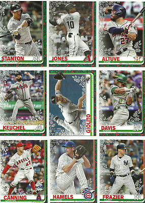2019 Topps Walmart Holiday Metal Base Parallel Lot (28)  Aaron Judge, Wil Smith,