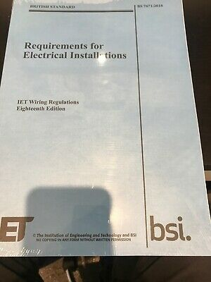 IET 18th Edition Wiring Regulation Book  BS 7671:2018 Electrical Regulations