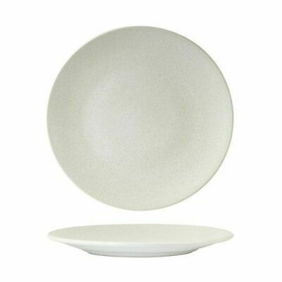 6x Coupe Plate 260mm Zuma 'Frost' White Commercial Crockery Cafe Restaurant