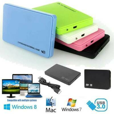 """Hard Drive Enclosure USB 3.0 To SATA 2.5"""" External HDD SSD Case Cover Disk LOT"""