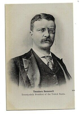 Youthful-looking President Theodore Roosevelt Postcard With an Undivided Back