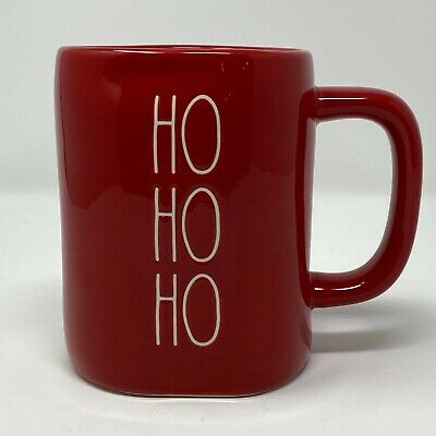 "Rae Dunn by Magenta Winter/Christmas 2019 Santa ""Ho Ho Ho"" Red Mug **HTF**"