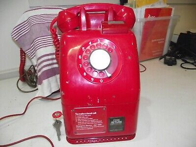 Red Phone 1970 20 Cent Rare Red Pay Phone With Keys