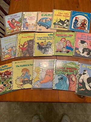 "Little Golden Books Mixed Lot of 15 Walt Disney ** Look ** ""I"""