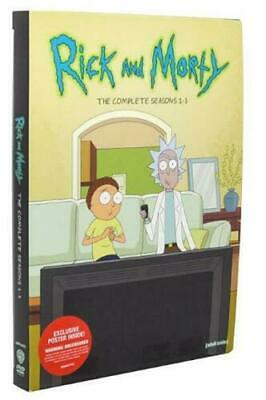 Rick and Morty The Complete Seasons 1-3 (DVD 6-Disc Set) Factory Sealed!