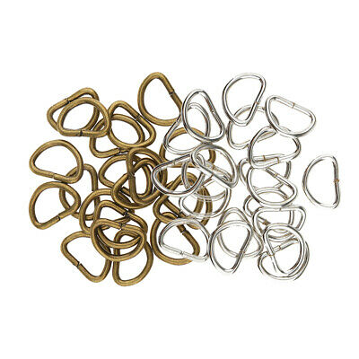 200pcs D Rings Buckles for Webbing Bags Accessories Leather Craft 10mm