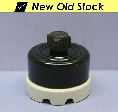 ⭐ Vintage Rotary Switch - Double-Pole, DPST - Bakelite/Porcelain Turn 250V A-H&H