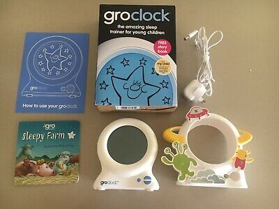 Gro Clock Sleep Trainer Plus Gro Clock Space Cover In Box Great Condition