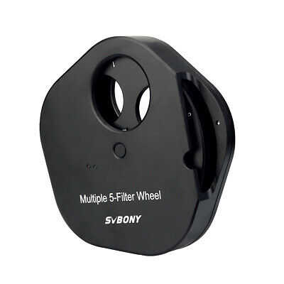 "SVBONY 1.25"" 5-Position Filters Wheel for Astro Telescopes +T2 adapter SV133  AU"