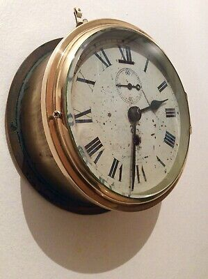 Rare early Military Ships Bulkhead clock by Smiths English Clocks 1940