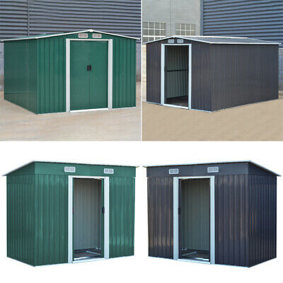Garden Shed Metal Apex/Pent Roof Outdoor Storage House With Free Foundation New
